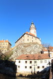 Castle Tower Cesky Krumlov Royalty Free Stock Images