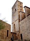 The castle tower with a clock Stock Photography