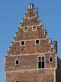 Castle tower. The close up of a castle tower Royalty Free Stock Photo