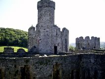 Castle Tower. Conwy Castle Tower in North Wales Royalty Free Stock Images
