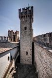 Castle tower and court Stock Images