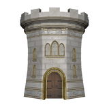 Castle tower - 3D render Royalty Free Stock Images