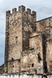 Castle tower. Detail of an ancient fortress in the city of Grottaglie, in the south of italy Royalty Free Stock Images