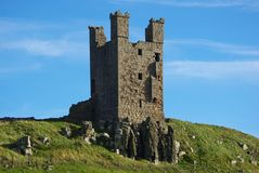 Castle Tower. Dunstanburgh Castle Tower on the Northumberland coast in Northern England Stock Photography