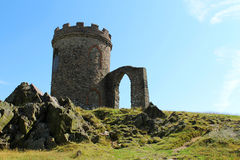 Castle Tower on a Hill stock image