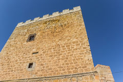 Castle tower in the historic old town of Requena Royalty Free Stock Photography