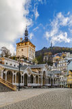Castle Tower, Karlovy Vary, Czech republic Stock Images