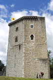 Castle tower La Tour Moncade, city Orthez, France Stock Images