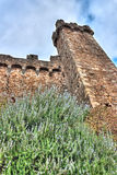 Castle tower in Montalcino Royalty Free Stock Images