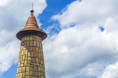 Castle tower. Monument of castle tower with blue skies Stock Photography