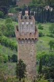 Castle Tower Near Cortona, Italy Royalty Free Stock Photography