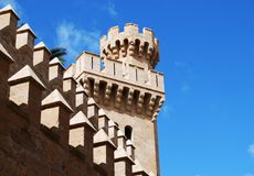 Castle tower in Palma de Majorca Royalty Free Stock Photos