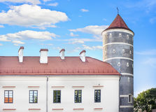 Castle tower. Panemunes castle tower in Lithuania Stock Photos