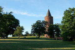 Castle tower and park. Castle tower in a park in Vordingborg Denmark Stock Image