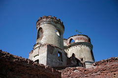 Castle tower ruins royalty free stock image