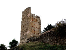 Castle tower in ruins in Alcaraz, Albacete. Andalusia. Spain Royalty Free Stock Photos