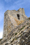 Castle tower ruins. Ruins of medieval castle, Panni Italy Stock Photos