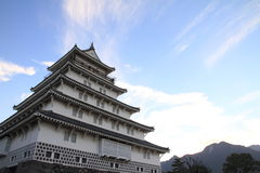 Castle tower of Shimabara castle in Nagasaki Stock Image