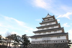 Castle tower of Shimabara castle in Nagasaki Stock Photos