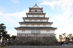 Castle tower of Shimabara castle in Nagasaki Stock Images