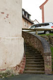 Castle tower with stairs. Seligenstadt Stock Photos
