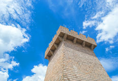 Castle tower. Strong castle tower with blue skies Royalty Free Stock Photos