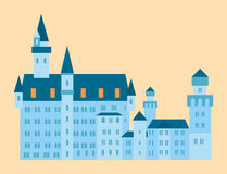 Castle tower tourism travel design famous building euro adventure international vector illustration. Stock Photo