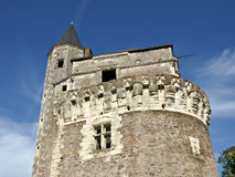 Castle tower view. Old medieval castle tower view Royalty Free Stock Images