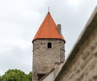 Castle tower and wall. Royalty Free Stock Photos
