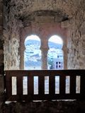 Castle tower window of Priego stock photos