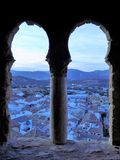 Castle tower window of Priego royalty free stock image