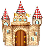 Castle tower with wooden door Royalty Free Stock Photo