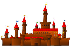 Castle With Towers Royalty Free Stock Photos