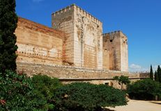 Castle towers, Alhambra Palace. Stock Photo
