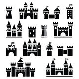 Castle, towers  icons set Royalty Free Stock Photography