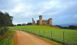 Castle of the towers, Via de la Plata, Real de la Jara, Spain Royalty Free Stock Photography