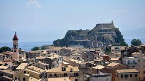 Castle in the town of Corfu, Greece, Europe Royalty Free Stock Photography