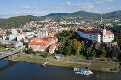 Castle and town Decin, Czech republic Stock Photography