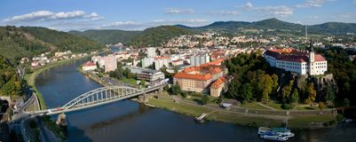 Castle and town Decin, Czech republic Stock Photo