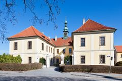 Castle and town gallery, Kladno, Central Bohemia, Czech republic. CZECH REPUBLIC, KLADNO - APR 7, 2018: Castle and town gallery, Kladno, Central Bohemia, Czech Stock Photo