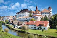 Castle and town Jindrichuv Hradec, Bohemia, Czech republic Royalty Free Stock Image