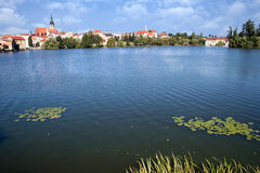 Castle and town Jindrichuv Hradec, Bohemia, Czech republic Royalty Free Stock Photo