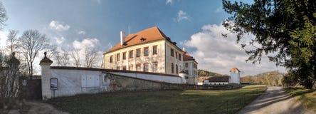 Castle in town Kunstat in Czech Republic Stock Images
