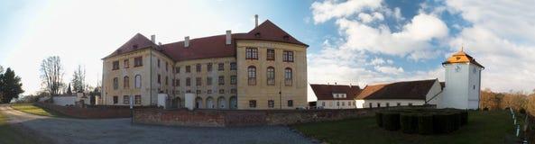 Castle in town Kunstat in Czech Republic Stock Photo