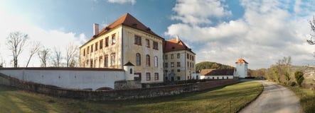 Castle in town Kunstat in Czech Republic Royalty Free Stock Images