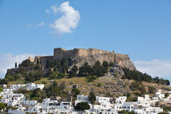 Castle town of Lindos Royalty Free Stock Photo