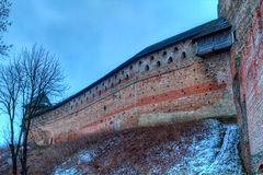 Castle in town Lutsk in winter Royalty Free Stock Photo