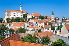 Castle, town Mikulov, South Moravia, Czech republic Stock Photo