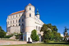 Castle, town Mikulov, South Moravia, Czech republic Royalty Free Stock Image