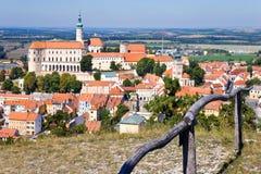 Castle, town Mikulov, South Moravia, Czech republic Royalty Free Stock Photography
